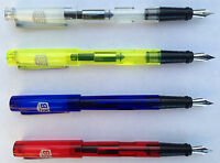 SB TAIWAN FOUNTAIN PEN - TRANSPARENT OR DULL BARREL-FINE POINT- MULTIPLE COLOURS