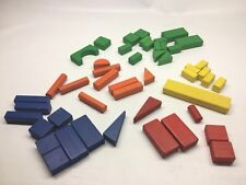 Vintage 1950s - 1960s Playskool Building Blocks 48 Pieces