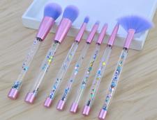 7x Pro Crystal Makeup Brushes Kit Cosmetic Eyeshadow Powder Foundation Brush Set