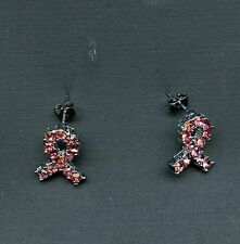 Pink Ribbon Earrings to show your support for a cure of Breast Cancer