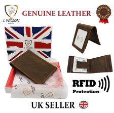 Créateur Hommes Portefeuille Cuir RFID protège sans contact CARTE blocage ID