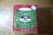 "2000 Hallmark Keepsake Ornament ""The Fishing Hole"" Raccoon"