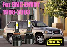 LED GMC ENVOY 1998-2003 Headlight Kit 9006 HB4 6000K White CREE Bulbs Low Beam