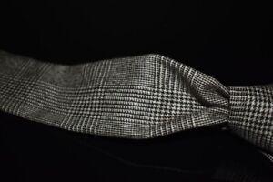 #1 MENSWEAR Vintage Rooster Wool Tweed Flannel Prince of Wales Brown Check Tie