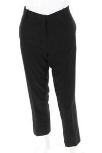The Row Womens Mid Rise Straight Leg Trouser Pants Black 6