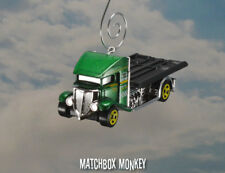Custom Flatbed Tow Truck Christmas Ornament 1/64 Adorno Flat Bed Towing NEW