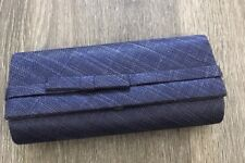 BRAND NEW NAVY BLUE SINAMAY CLUTCH BAG HANDBAG ASSORTED COLORS FORMAL OCCASIONS