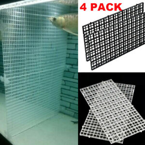 4 PACK Grid Divider Tray Egg Crate Aquarium Fish Tank Filter Bottom Isolate NEW
