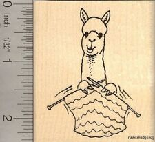 Alpaca knitting Rubber Stamp J13306