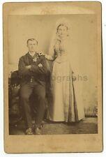 19th Century Wedding - Original 19th Century Cabinet Card Photograph - Ruma, IL