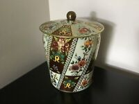"""Vintage Tea or Biscuit Tin Floral Print Made in England - 6.25""""H. . Free Shippin"""