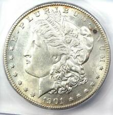 1901-S Morgan Silver Dollar $1 Coin - Certified ICG AU58 - Looks MS / UNC!