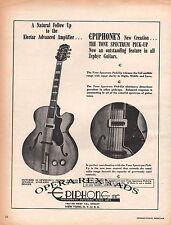 EPIPHONE, THE TONE SPECTRUM PICK-UP Original Oversized Print AD 1948