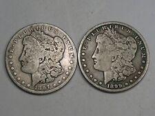 2 New Orleans Mint Morgan Dollars: 1897-o & 1899-o. #14