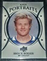 2018-19 Brock Boeser Upper Deck UD Portraits #P-6 Vancouver Canucks
