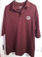 Mens Antigua Texas A & M Aggies Polo Shirt size large