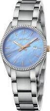 Calvin Klein Silver Blue Pearl Quartz Analog Women's Watch K5R33B4X