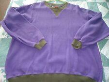 Men's size Medium Purple Waffle Knit Sweat Shirt from Boston Traders
