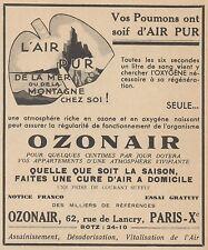 Z9967 OZONAIR l'air pur -  Pubblicità d'epoca - 1937 Old advertising