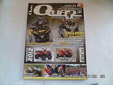 QUAD PASSION MAGAZINE N°137 11/2011 ESPLORER ARGON 700 POLARIS SPORTSMAN 500  I3