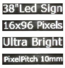 "38""x 6.5"" LED Sign Programmable Scrolling Window Message Display White Color P10"