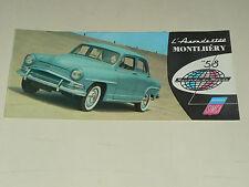 Prospectus SIMCA ARONDE 1300 gamme 58  catalogue,brochure prospekt car auto