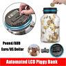 Large Digital LCD Pound Coin Counter Saving Jar Money Box Piggy Bank Coins Gift