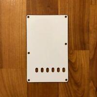 WHITE 3-Ply Back Plate Tremolo Cover for USA MIM Fender Stratocaster Strat®  NEW