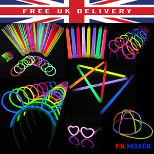 "HEART GLASSES Light Stick BUNNY EARS 6"" 8"" GLOW STICKS Bracelet Christmas PARTY"