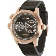 Orologio Sector Dual Time Oversize 48 mm Brown Rose R3251102022
