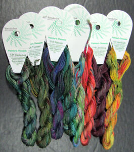 8xNeedlepoint/Embroidery THREAD TENTAKULUM Painters Soie d'alger 7 ply silk-ZZ96