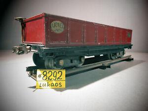 Lionel 212  PREWAR STANDARD GAUGE MAROON METAL  GONDOLA.