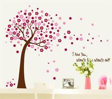 Large Pink Cherry Blossom Tree Wall Stickers Art Girls Bedroom Decal Paper