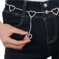 Flash Drill Heart Waist Chain Cute Night Club Disco  Belt Rhinestone