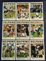2004 Topps Collection MIAMI DOLPHINS Complete Team Set 11 THOMAS, TAYLOR, RARE !