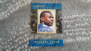 Michael Irvin Pinnacle Laserview Inscriptions Autographed Card #2012/3050