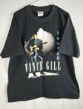 Vintage Country Music Vince Gill 95 Tour Short Sleeve Xl Black Concert T Shirt