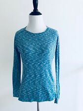 Marmot  G3 Womens Long Sleeves Top Size M Blue Crewneck Sweater Stretch Pullover