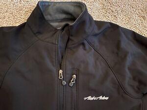 Sm Alaska Air Airlines Employee Uniform Work Jacket Cold Gear Zip Up Logo Promo
