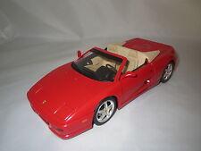 Hot Wheels/Mattel  Ferrari  F355  Spider  (rot/beige) 1:18  ohne Verpackung !!