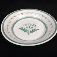 """Arabia Finland Green Thistle Pottery 5"""" Ice Cream Fruit Dessert Bowl Vtg 1955"""