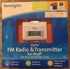 Kensington 33169 Digital FM Radio and Transmitter for iPods, New Sealed Box