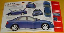 1998 1999 Audi S4 V6 2671cc Twin KKK Turbo 250 hp BEFI IMP Info/Specs/photo 15x9