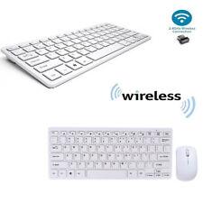 KIT TASTIERA E MOUSE MINI WIFI WIRELESS PER PC 2.4 GHz KEYBOARD USB SENZA FILI