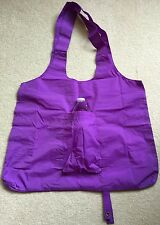 Eco-Friendly Fold-Up Reusable Nylon Shopping Bags w/ Water Bottle Holder