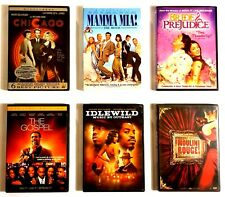Music Movies 6 Dvds: Moulin Rouge, Chicago, Mamma Mia, Bride and Prejudice, &.