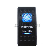 Car Auto Waterproof Button Rocker Toggle Switch Blue LED Driving Lights 12V 20A