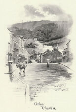 Otley Chevin, Yorkshire, Ayton Symington print 1900, SUPERB