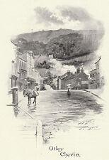 Otley Chevin, Yorkshire, Ayton Symington print 1900, SUPERB