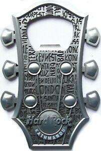 𝗛𝗔𝗥𝗗 𝗥𝗢𝗖𝗞 𝗖𝗔𝗙𝗘 Kathmandu 𝐍𝐄𝐏𝐀𝐋 Headstock BOTTLE OPENER Magnet